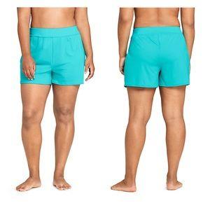 """Lands end 3"""" swim shorts tummy control plus size"""
